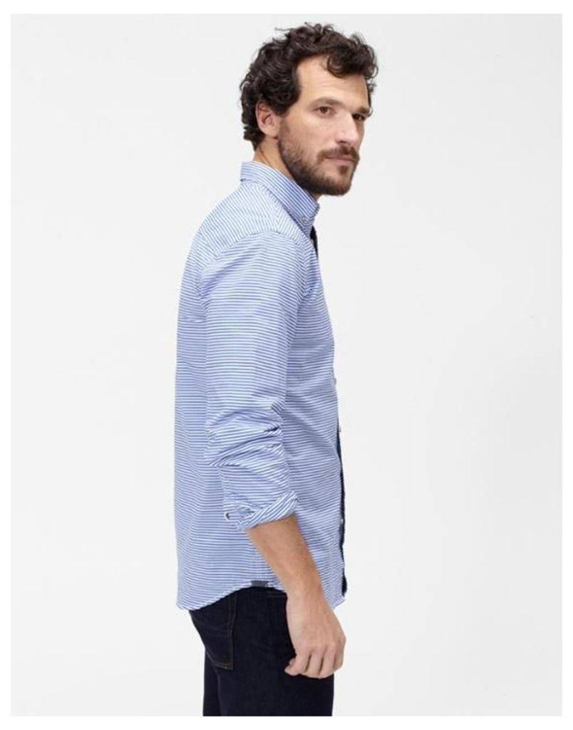 Ocean Stripe Talbert Classic Fit Shirt  Size L | Joules UK