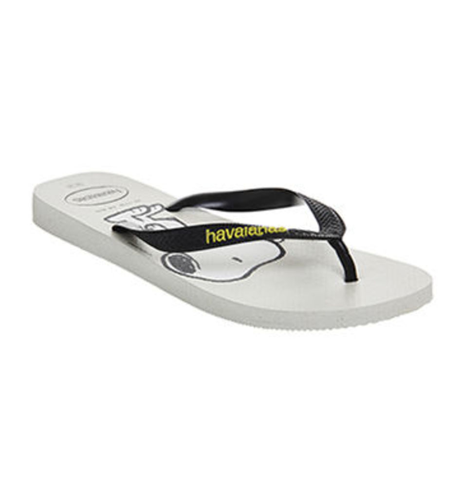 Havaianas Snoopy Flip Flop WHITE BLACK