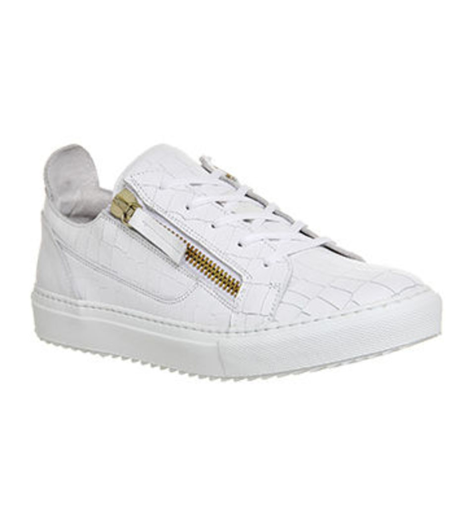 Poste Chlorine II Low Sneaker WHITE CROC LEATHER