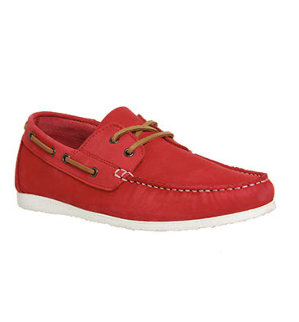 Ask the Missus Draft Boat Lace Up RED NUBUCK