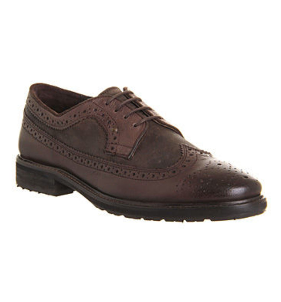 Office Angel American Brogue BROWN LEATHER