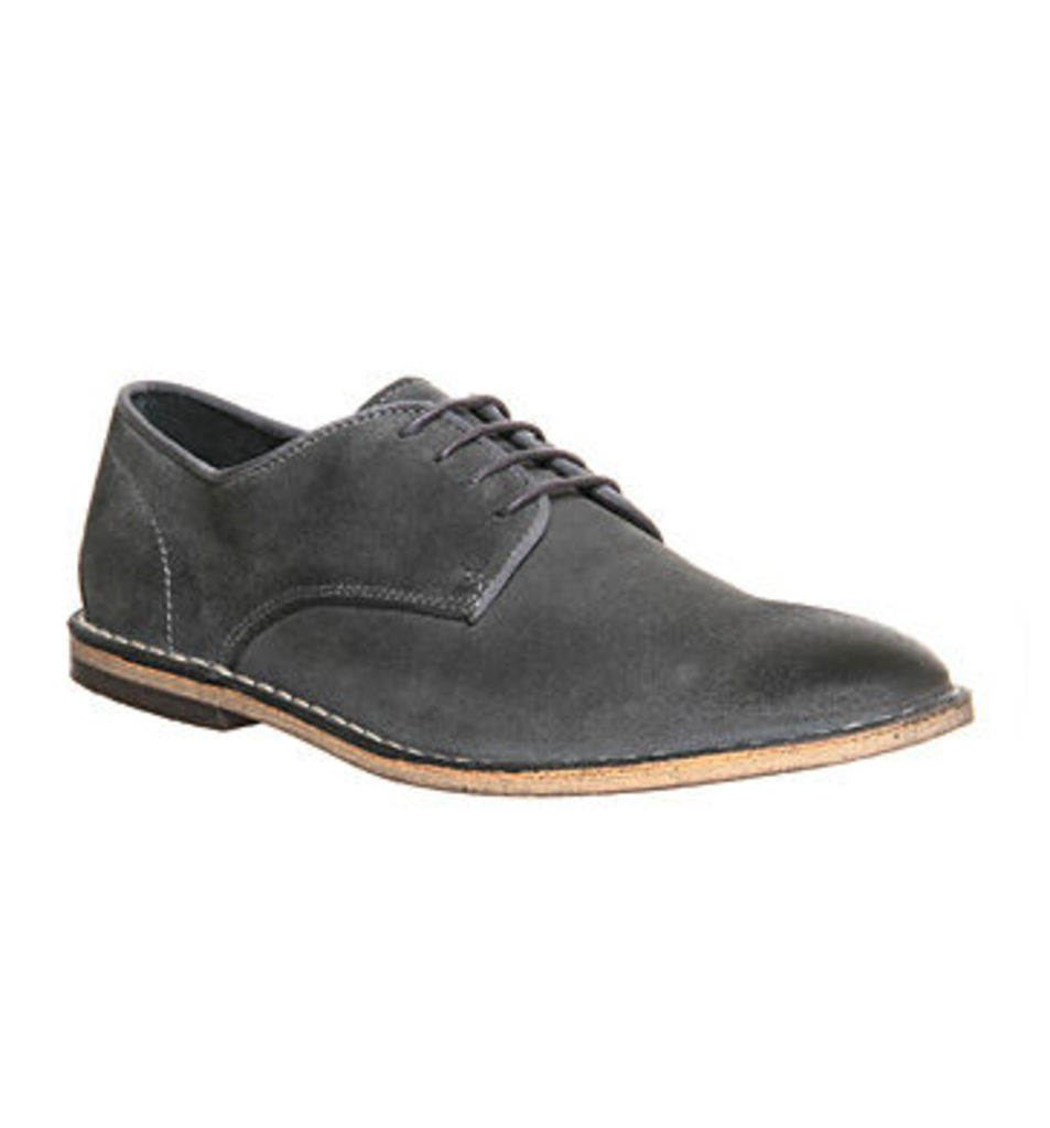 Ask the Missus Bemuse Lace Up GREY SUEDE
