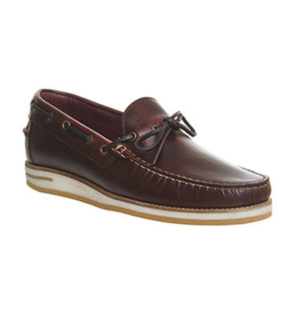 Poste Duoro Boat Slip On TAN LEATHER