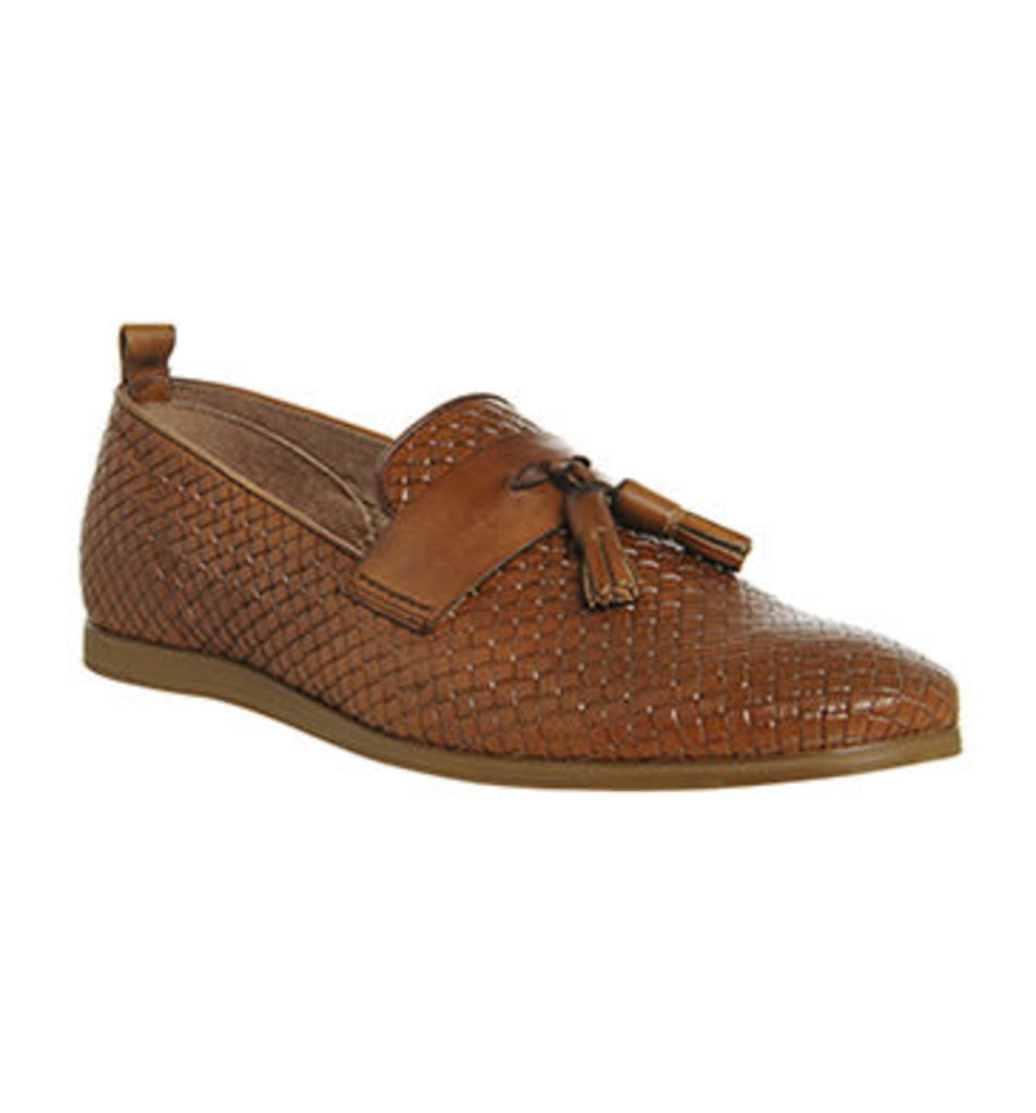 Ask the Missus Dallas Tassle Loafer TAN LEATHER