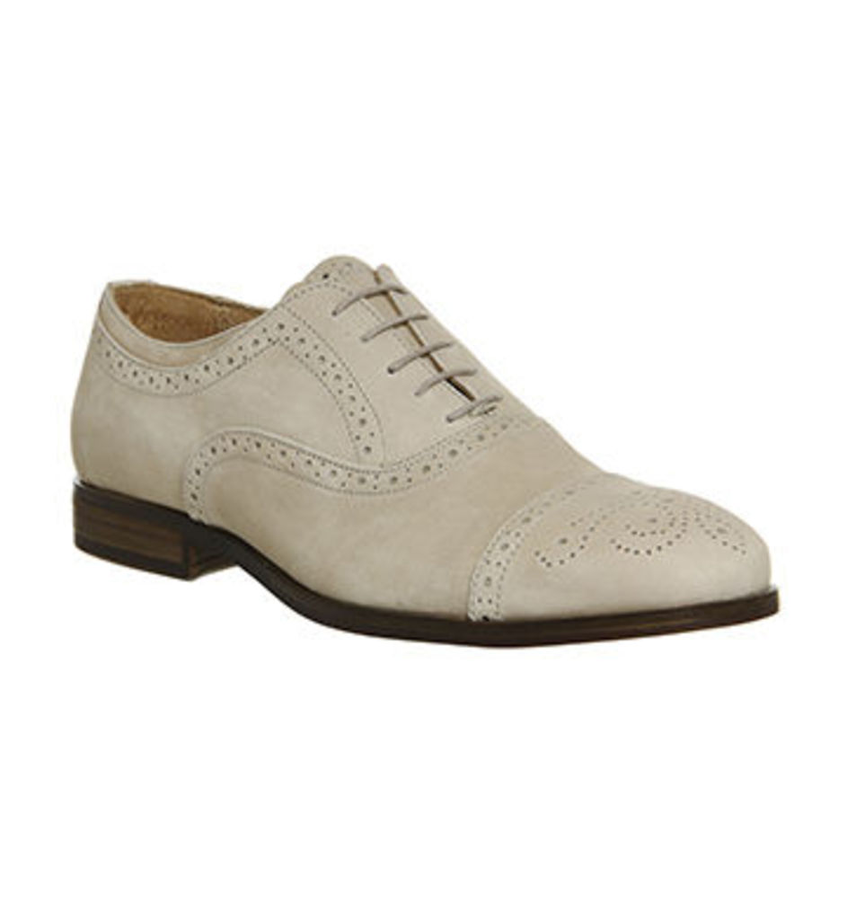 Ask the Missus Catskill Oxford Brogue BEIGE NUBUCK