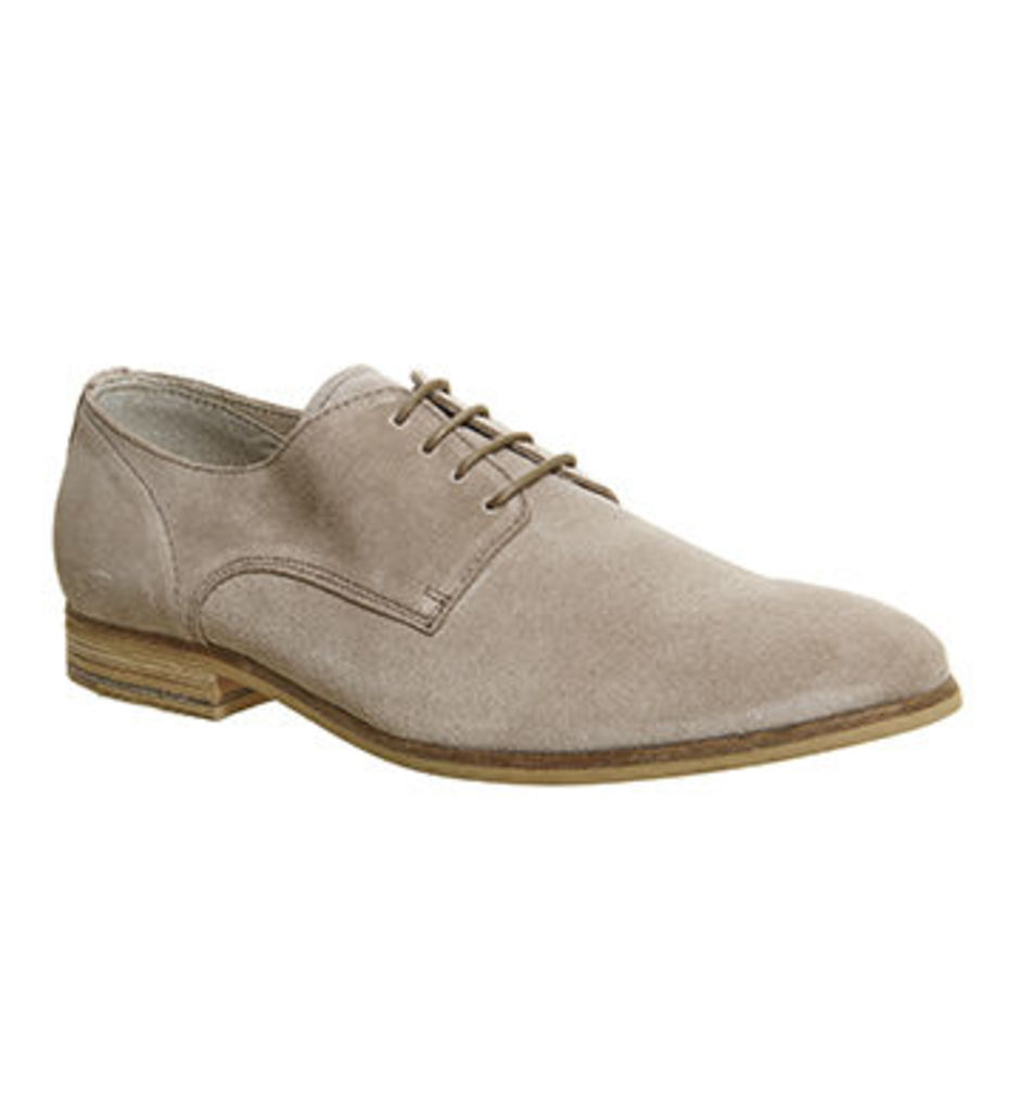 Ask the Missus Dosh Lace Derby BEIGE SUEDE