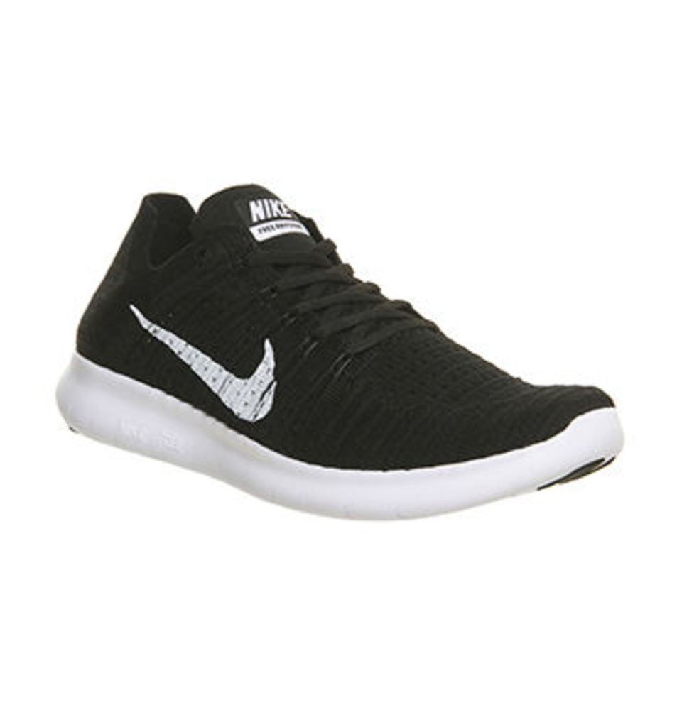Nike Free Run Flyknit M BLACK WHITE