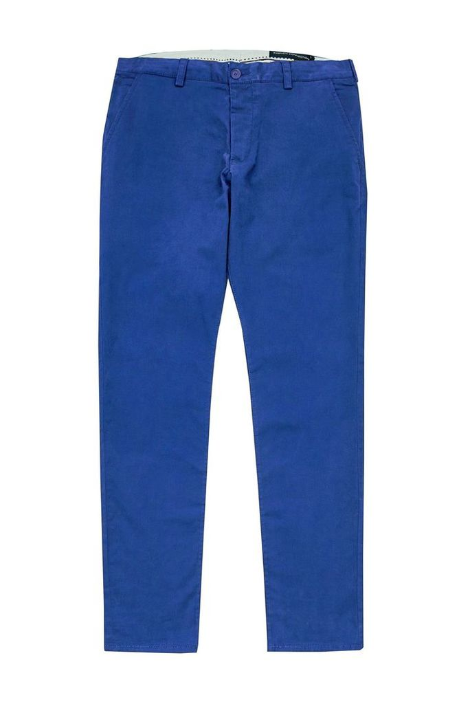 Men's French Connection Machine Gun Stretch Chinos, Royal Blue