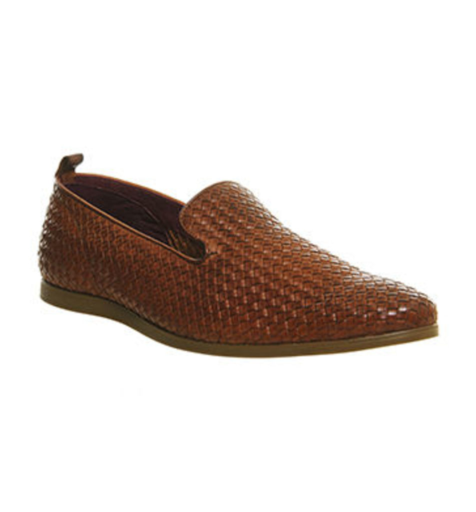Poste Dinatali Woven Loafer TAN LEATHER