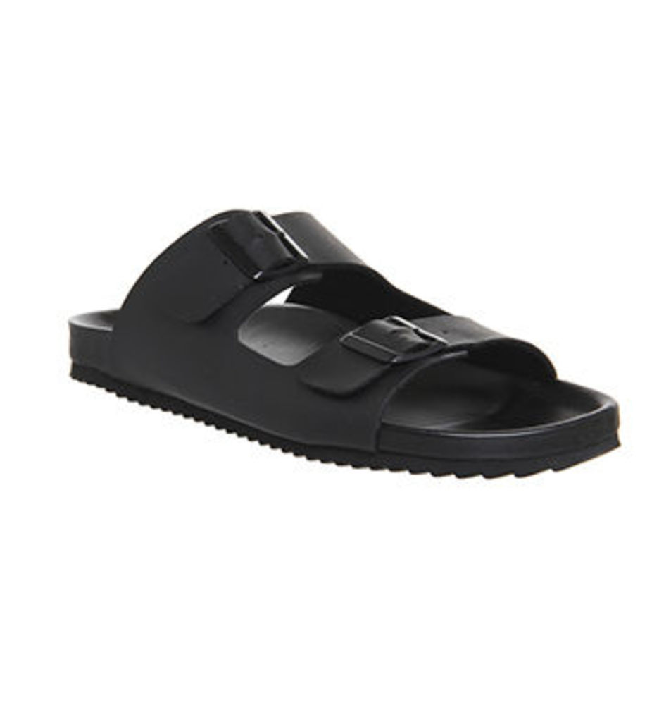 Office Dubai Buckle Sandals BLACK MONO