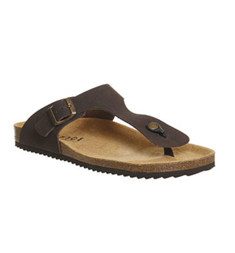 Office Delhi Toepost Sandals BROWN