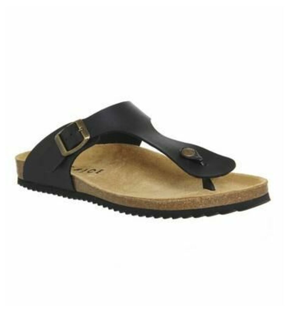 Office Delhi Toepost Sandal BLACK