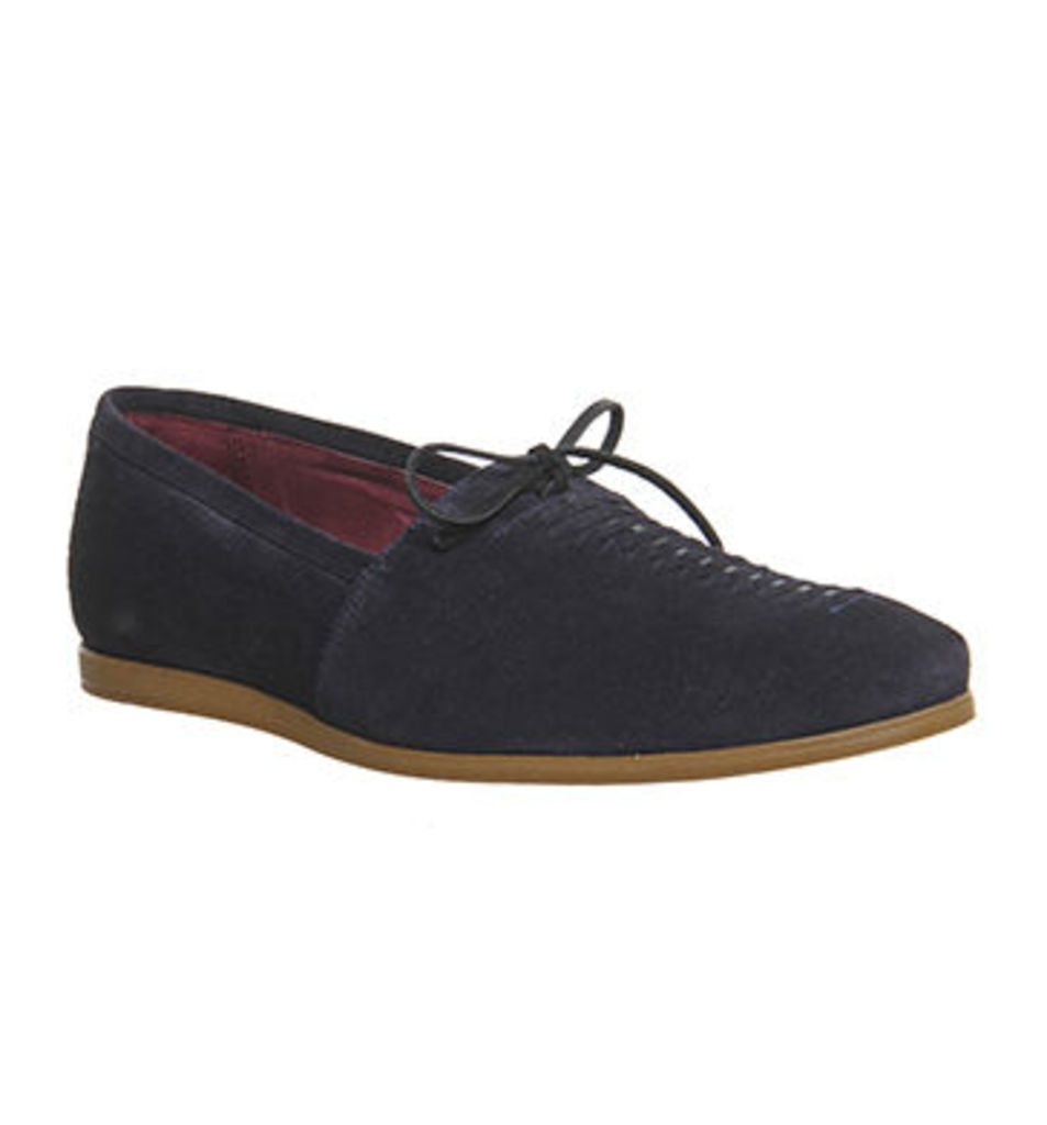 Poste Diangelo Lace Loafer NAVY SUEDE