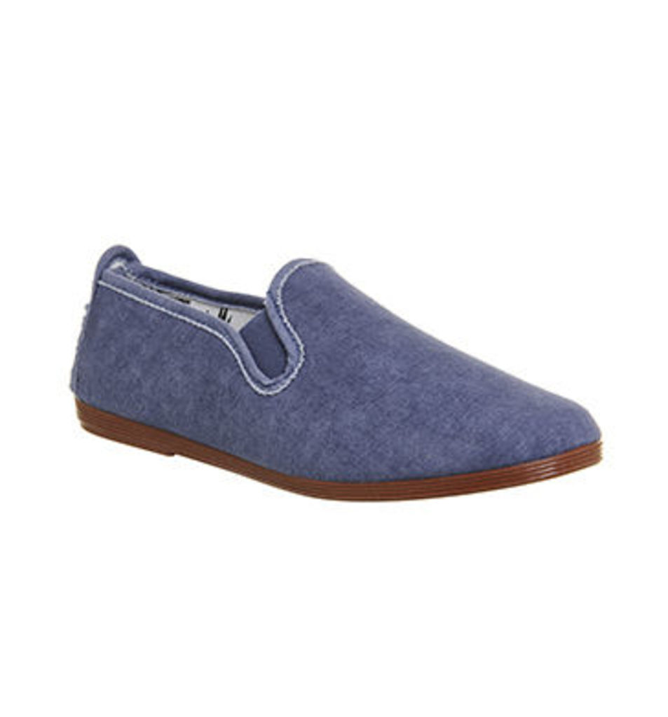 Flossy Cuenca Plimsole DENIM WASHED CANVAS