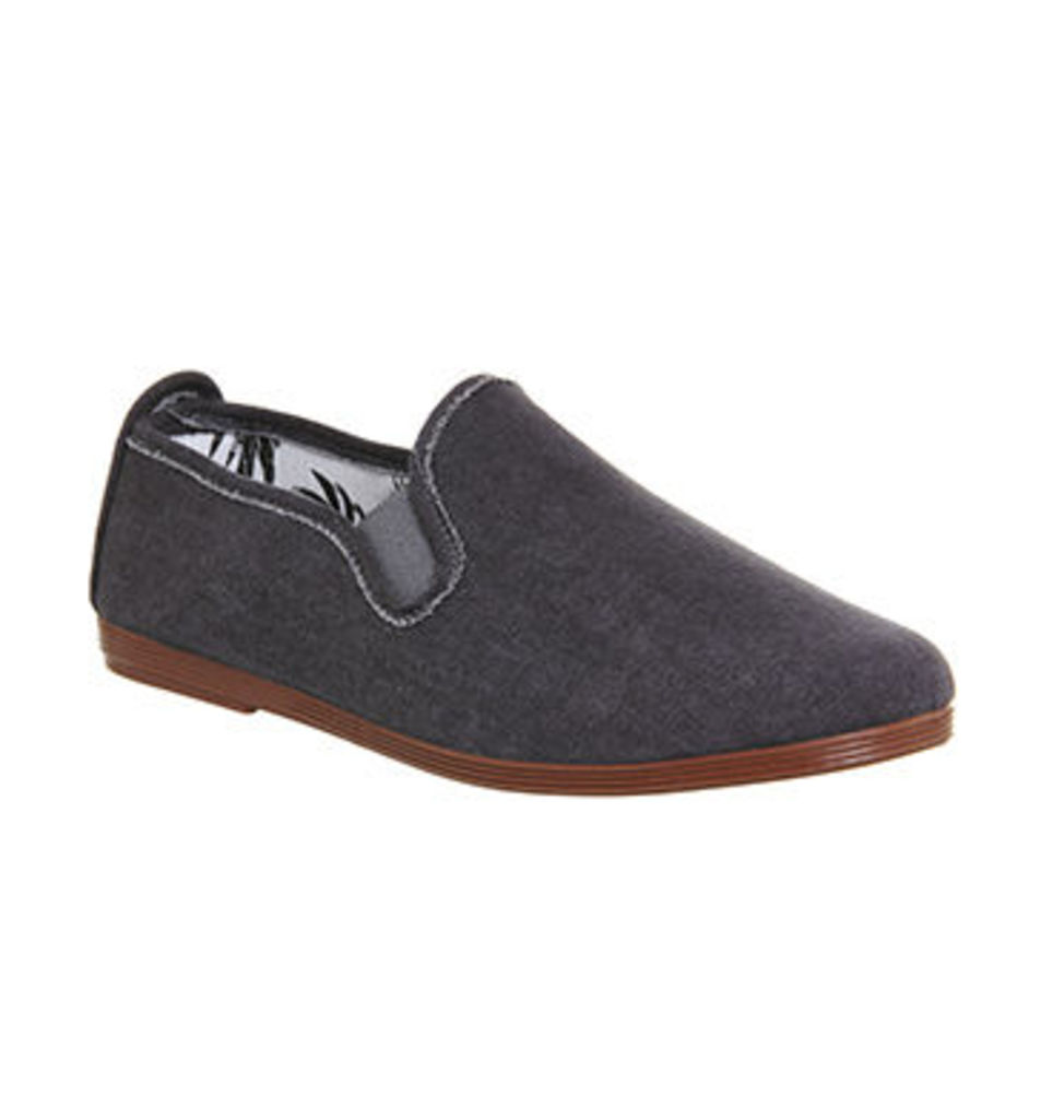Flossy Cuenca Plimsole GREY DENIM CANVAS