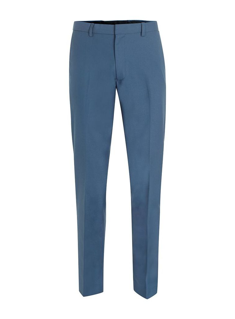Men's Topman Skinny fit suit trousers, Mid Blue