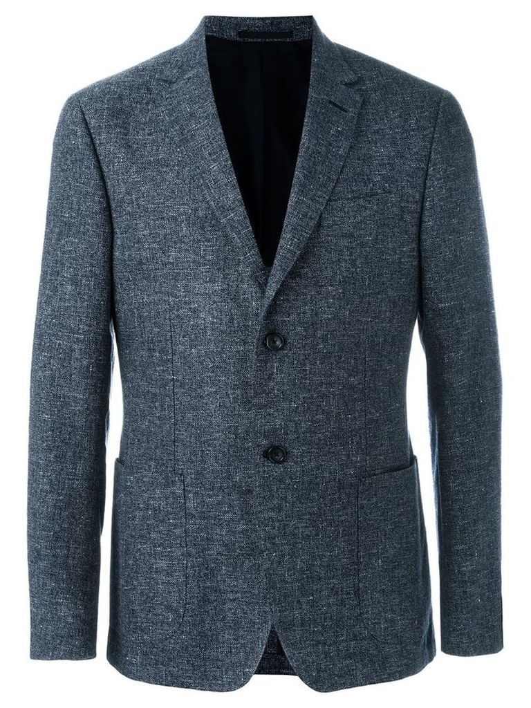Z Zegna melange single breasted blazer