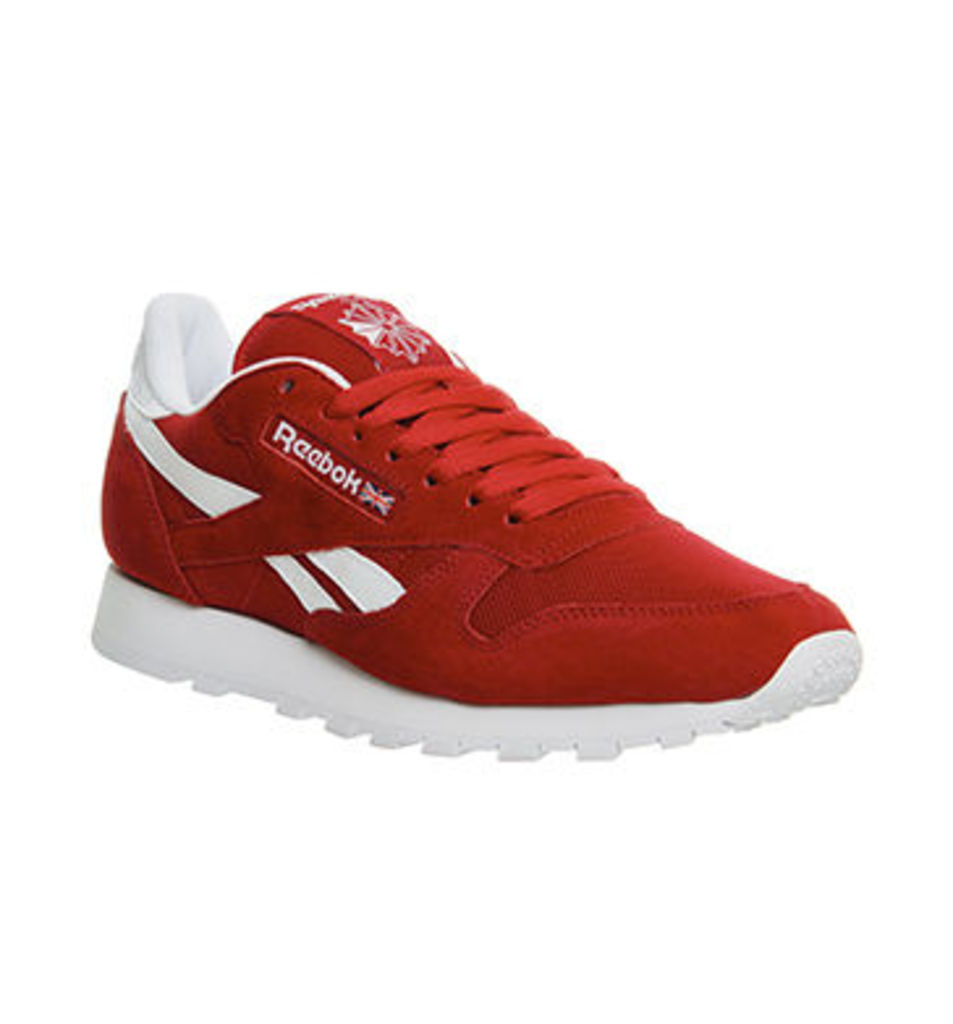 Reebok Cl Leather EXCELLENT RED WHITE IS