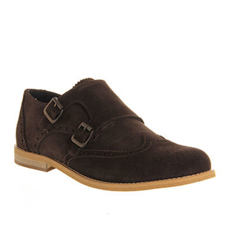 Ask the Missus Access Double Monk CHOCOLATE SUEDE NATURAL SUEDE