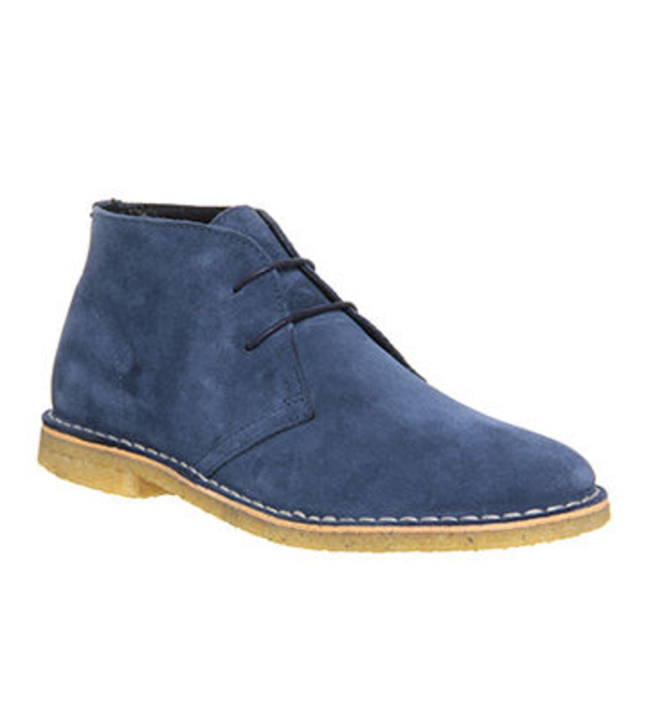 Ask the Missus Cookie Desert boots NEW NAVY SUEDE