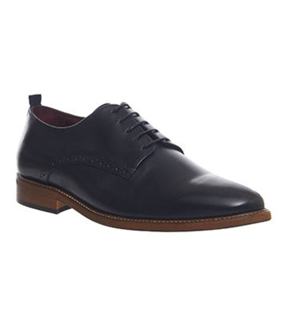 Poste Dario Lace Up NAVY LEATHER