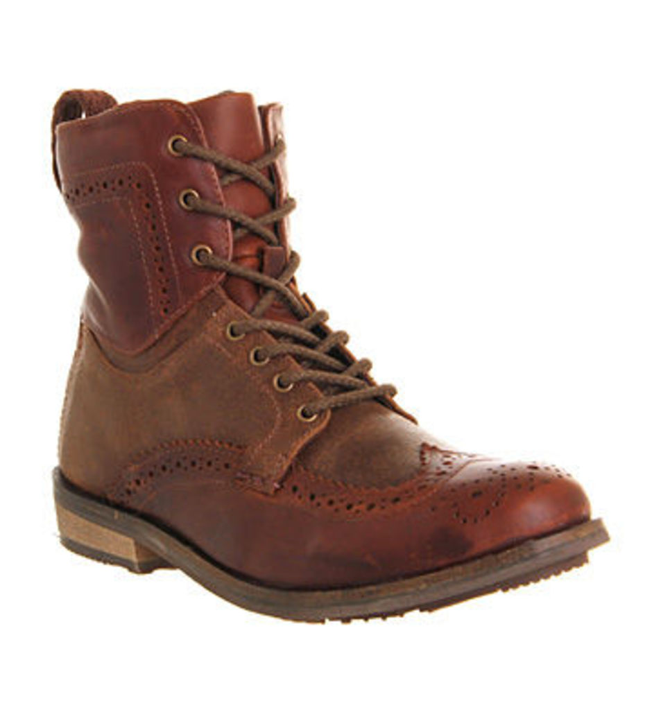 Ask the Missus Keaton Brogue boots BROWN LEATHER