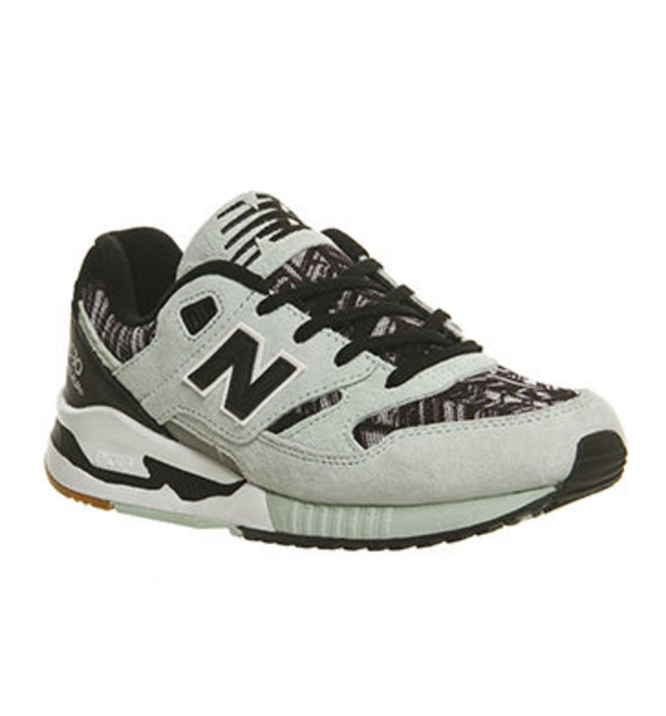 New Balance 530 W MINT BLACK TEXTILE PRINT