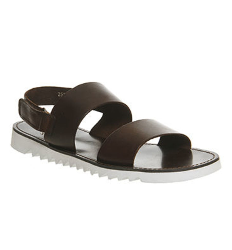 Poste Domitius Back Strap Sandal BROWN LEATHER
