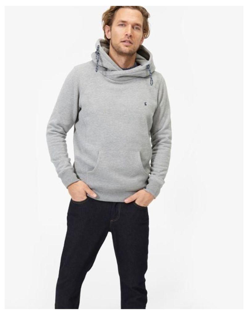 Grey Marl Harmon Hooded Sweatshirt  Size XL | Joules UK