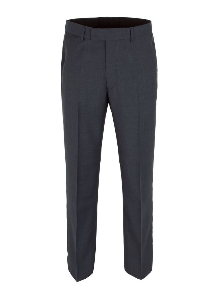 Men's Aston & Gunn Check Classic Fit Suit Trousers, Navy