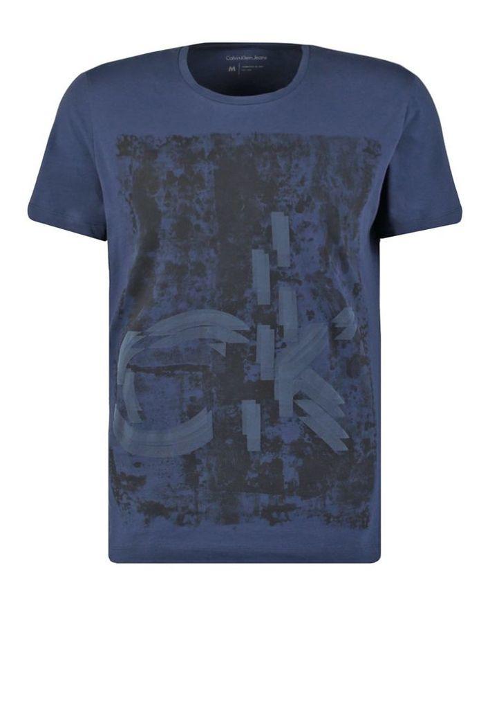 Calvin Klein Jeans THUN REGULAR FIT  Print Tshirt blue