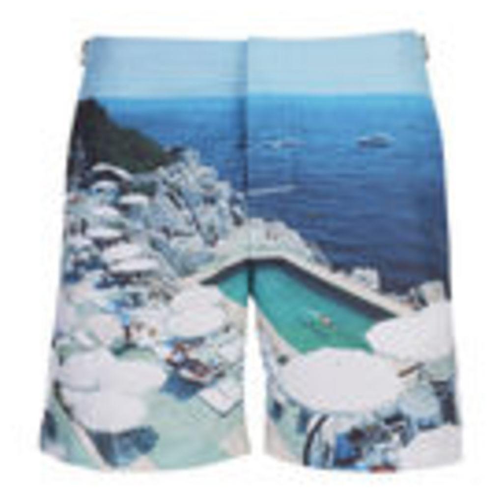 Orlebar Brown Men's Bulldog Hulton Getty Swim Shorts - Pool of Eden - W32