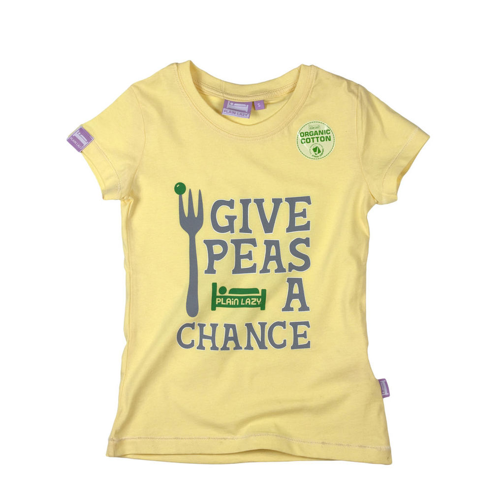GIVE PEAS A CHANCE T SHIRT (6-13 YRS)