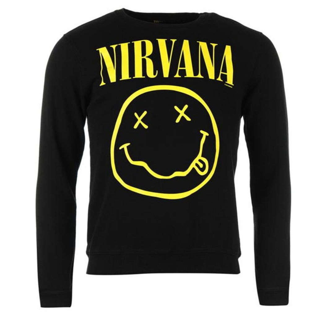 Official Nirvana Sweatshirt Mens