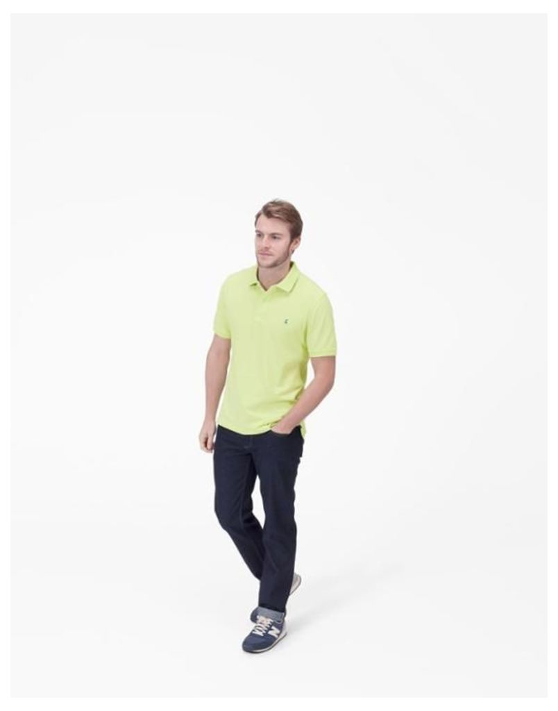 Neon Lime Woody Classic Fit Polo Shirt  Size M   Joules UK