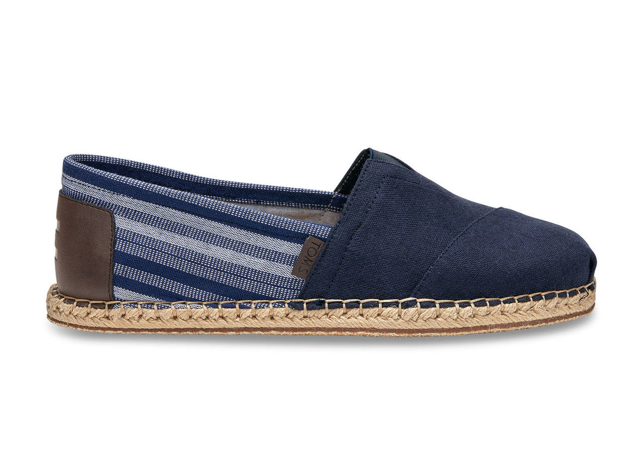 Navy Hemp/Blanket Stitch Men's Classics
