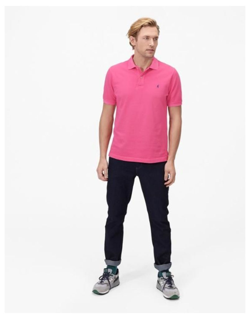 Pink Woody Classic Fit Polo Shirt  Size S   Joules UK