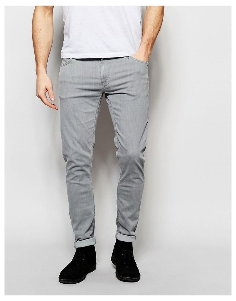Nudie Jeans Skinny Lin Super Skinny Fit Grey Storm Light Wash - Grey storm