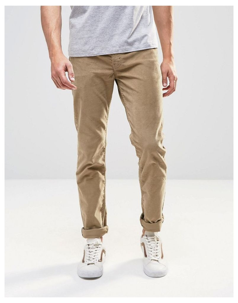 Levi's 511 Slim Cord Trousers Beige 5 Pocket - Beige