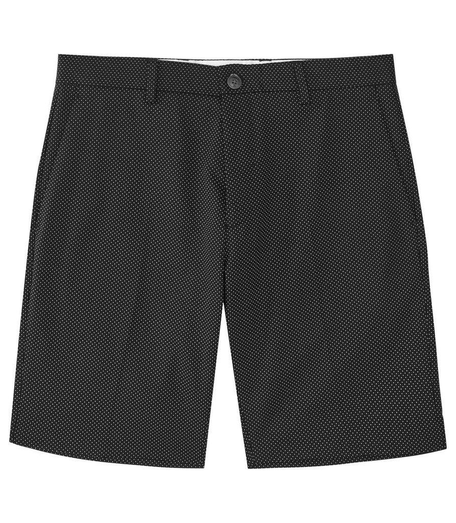 REISS Apollo - Mens Polka Dot Shorts in Blue