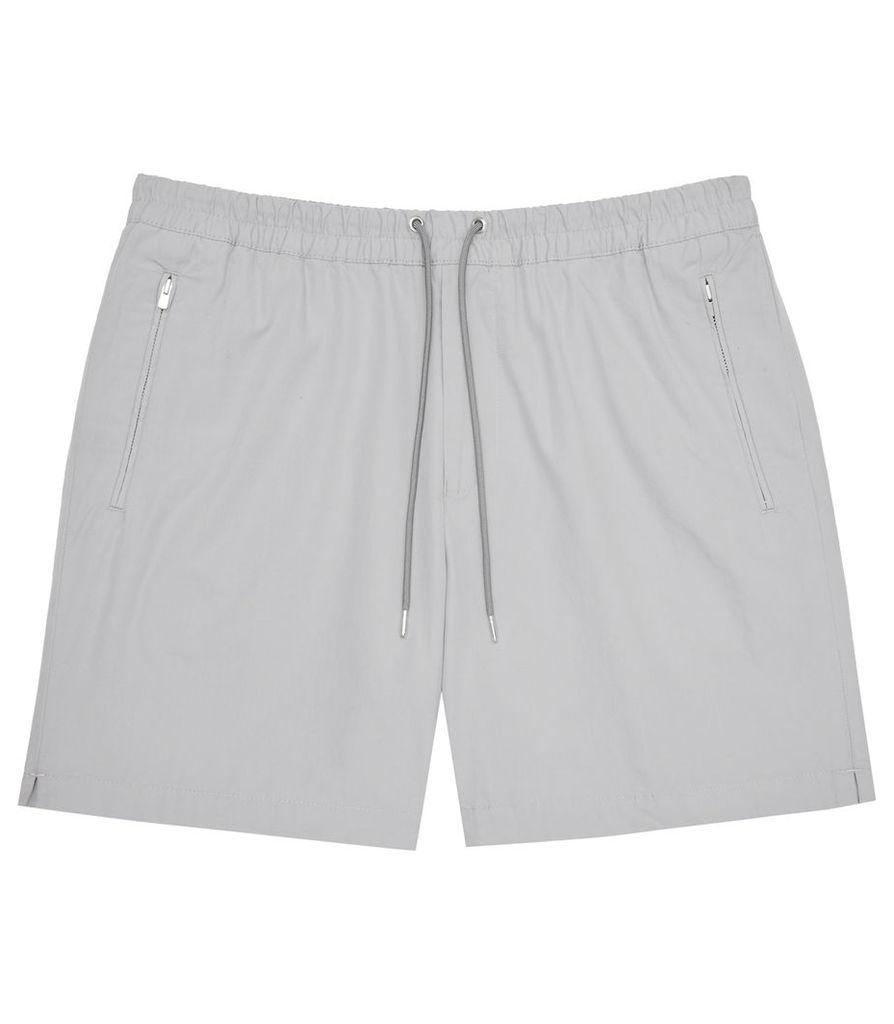 REISS Howard - Mens Drawstring Shorts in Grey