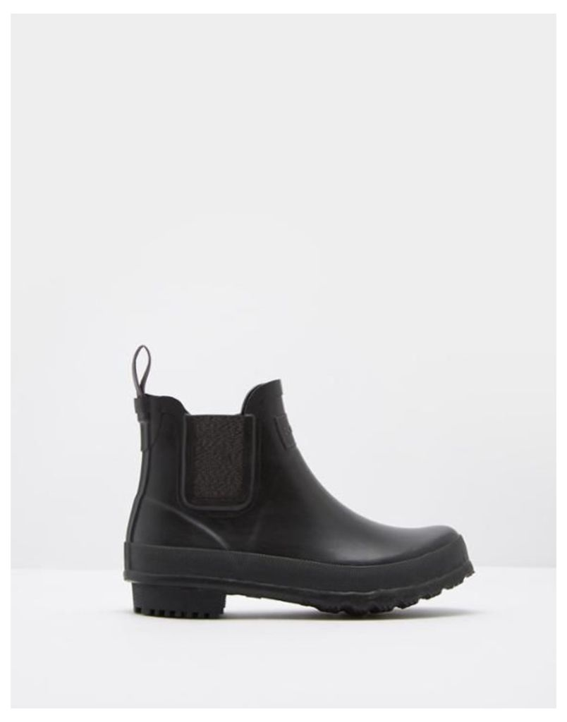 Black Buckingham Ankle Wellies  Size Adult Size 10 | Joules UK