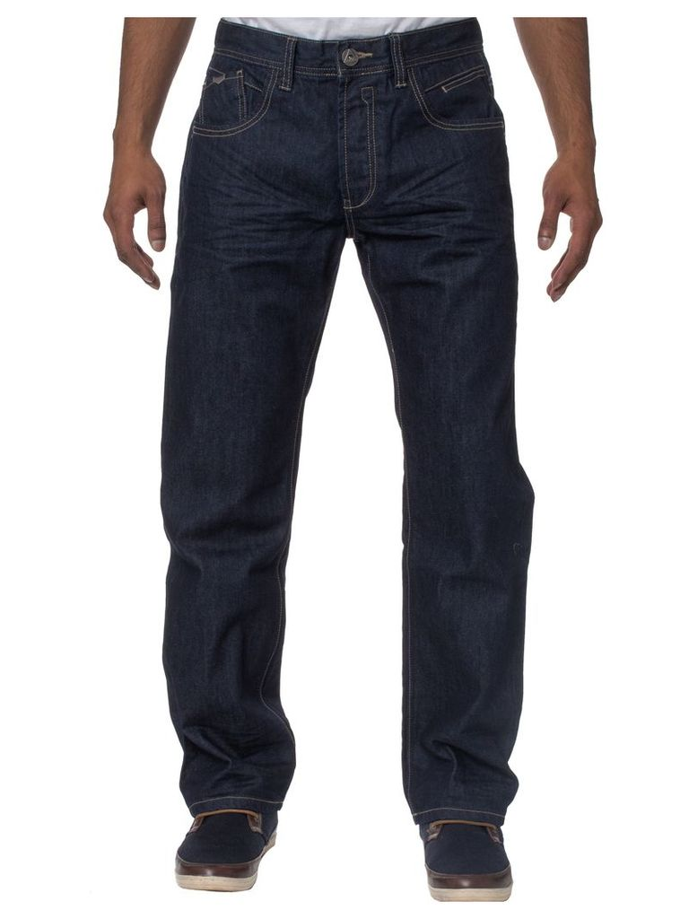 Mens Loose Fit Midnight Bluewash Jeans