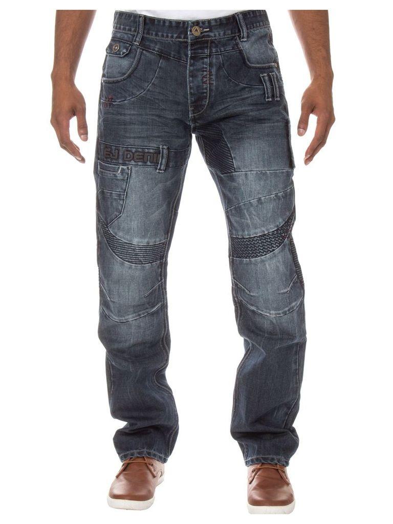 Mens Straight Regular Fit Darkwash Jeans