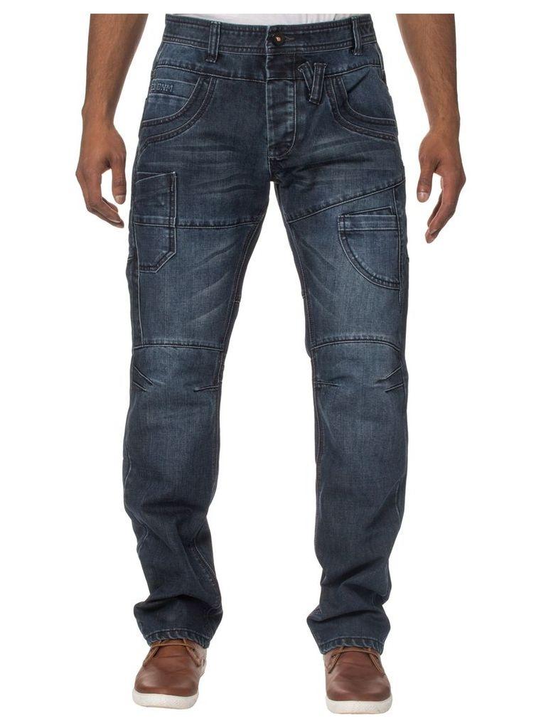Mens Regular Straight Fit Darkwash Jeans