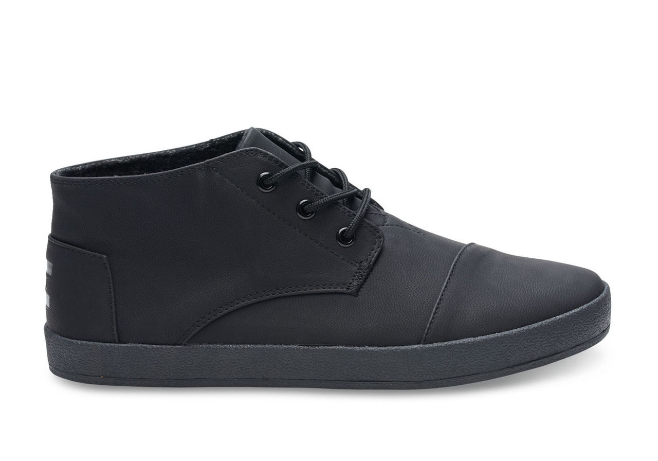 Black Synthetic Leather Men's Paseo Mids