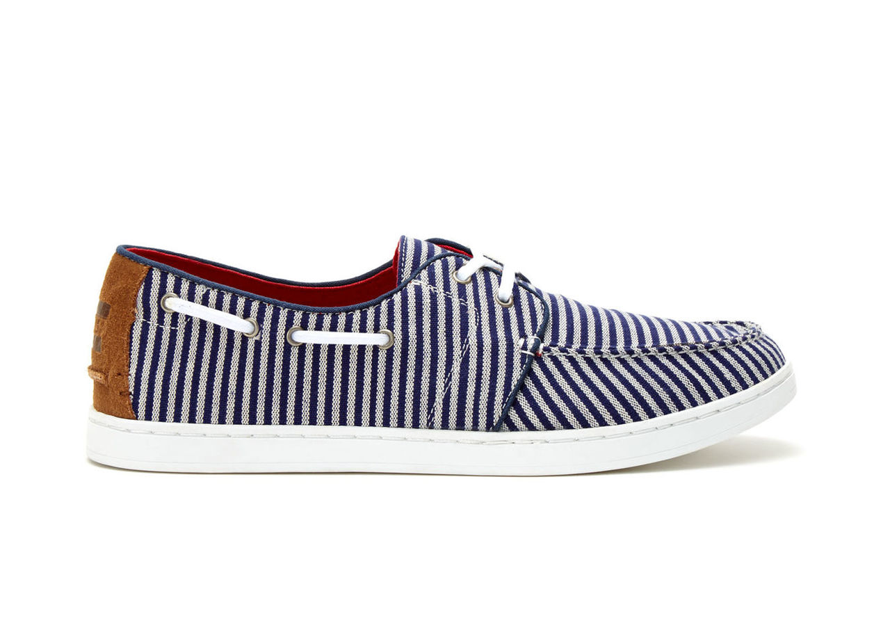Navy White Stripe Woven Mens Culver