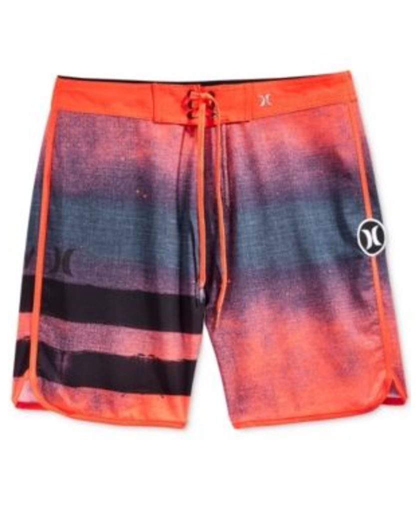 Hurley Men's Phantom Block Party Ink Stripe Boardshorts