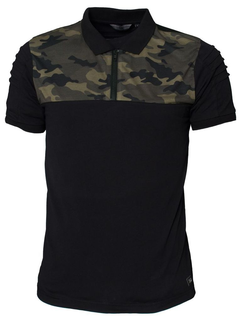 Mens Polo Tshirt Style Conquest Black