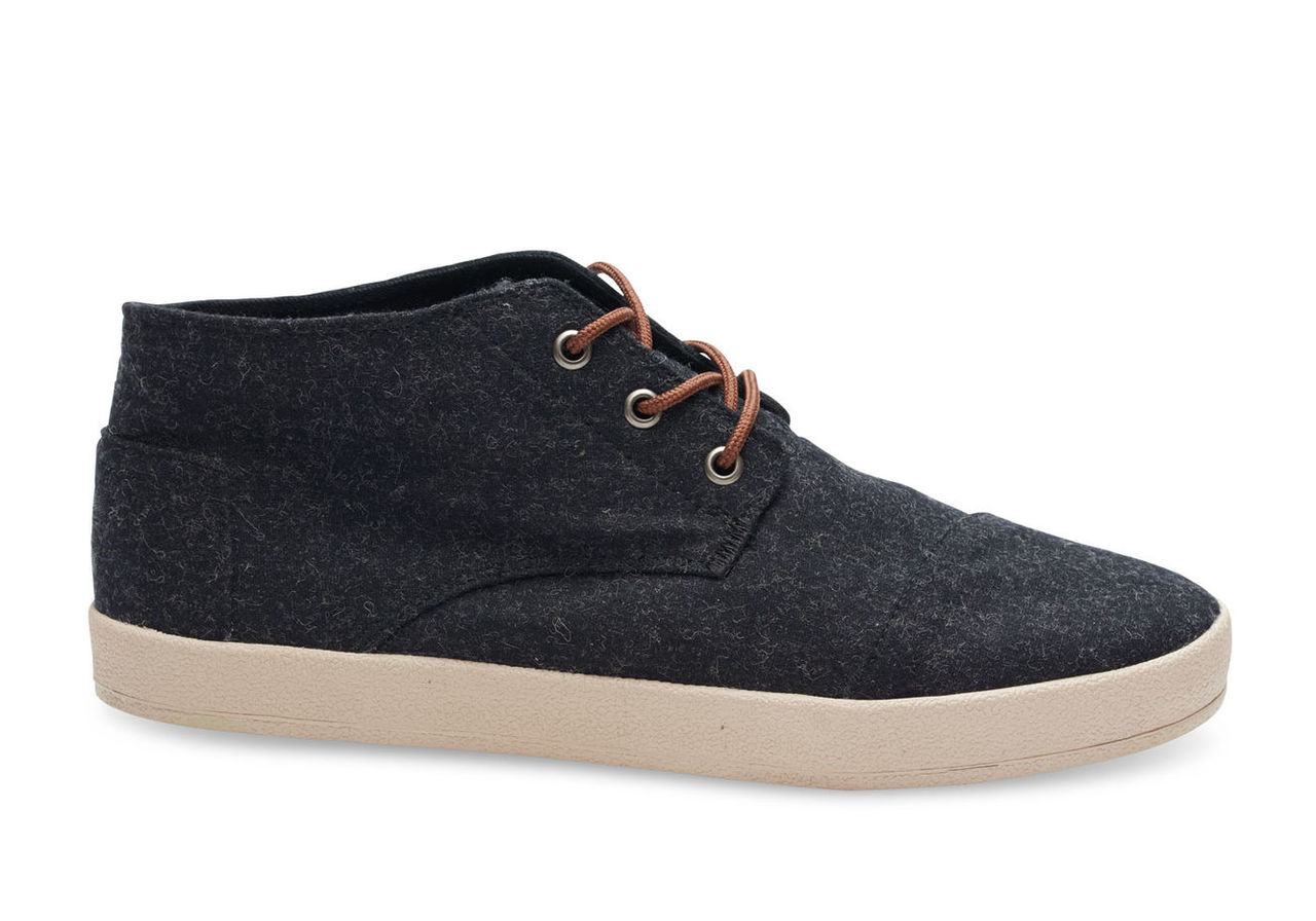 Black Wool Men's Paseo Mids
